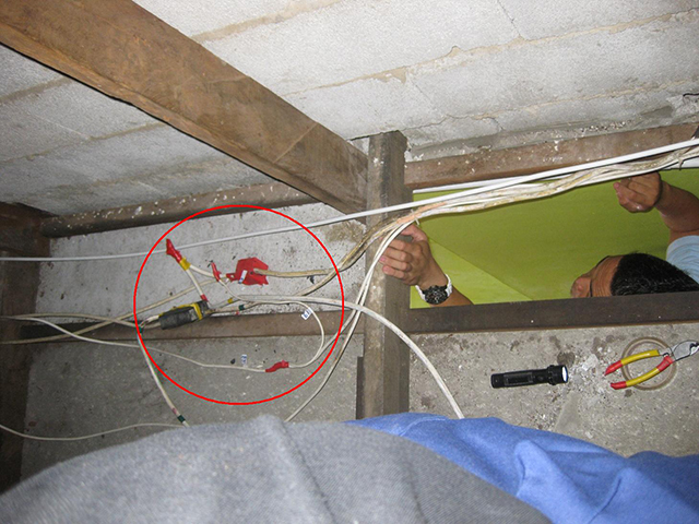 Power Theft Through Illegal Direct Tapping Hidden In The Ceiling